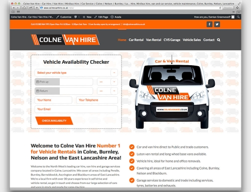 Colne Van Hire Launches New 2016 Website